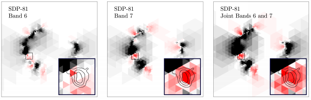 Maps of SPD.81 with added clump of dark matter